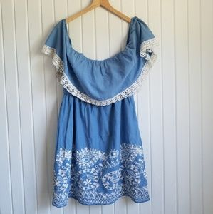 Flying Tomato Off the Shoulder Dress Size 1X